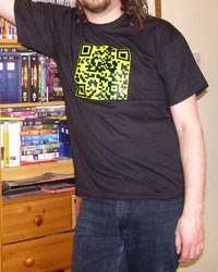 Me wearing QR code
